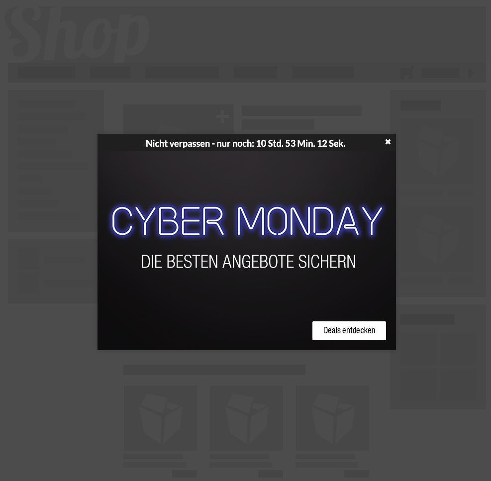 Countdown Layer Cyber Monday